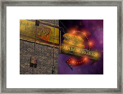 Bob's Famous Burgers Framed Print by Larry  Page