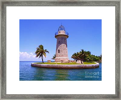 Boca Chita Lighthouse Framed Print by Carey Chen