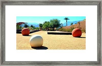 Bocci Ball 1 Framed Print by Ron Kandt