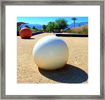 Bocci Ball 2 Framed Print by Ron Kandt