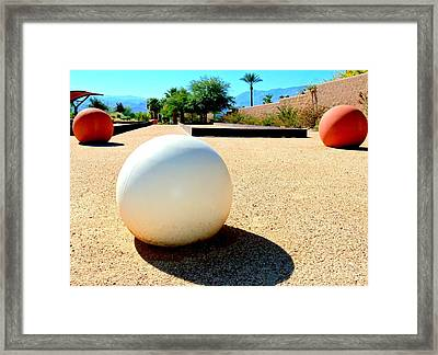 Bocci Ball 3 Framed Print by Ron Kandt
