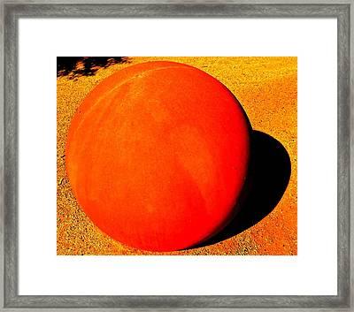 Bocci Ball 6 Framed Print by Ron Kandt