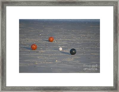 Beach Bocci Ball Framed Print by Bob Sample