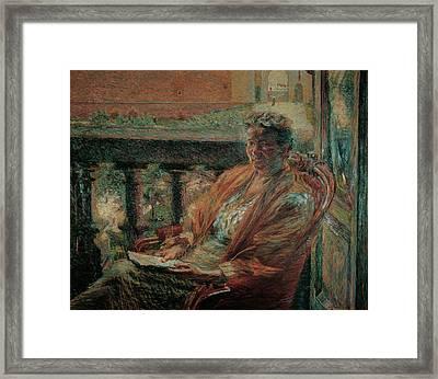 Boccioni Umberto, Portrait Of Mrs Meta Framed Print by Everett