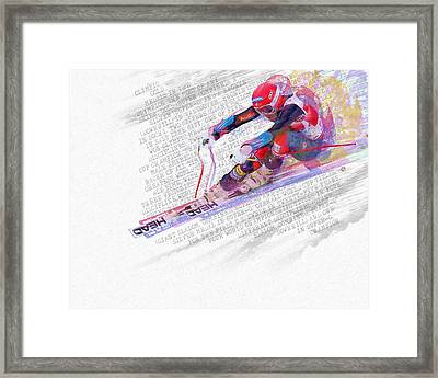 Bode Miller And Statistics Framed Print by Tony Rubino
