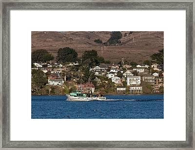 Bodega Bay In December Framed Print by Kathleen Bishop
