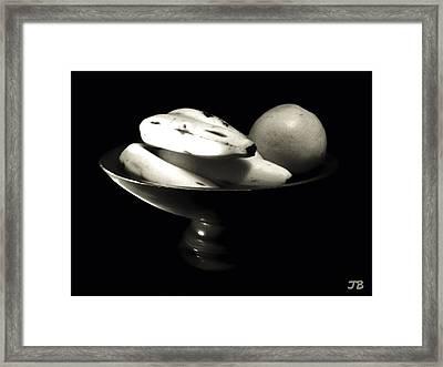 Bodegon Black And White Framed Print by Jorge Bencosme