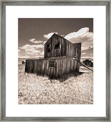 Bodie Ghost Town - Bent House 03 Framed Print by Gregory Dyer