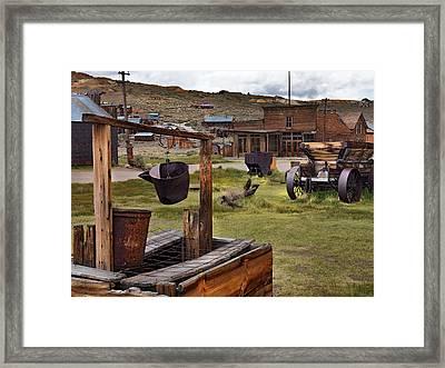 Bodie Ghost Town Framed Print by Leland D Howard