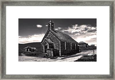 Bodie Ghost Town - Spooky Church Framed Print by Gregory Dyer
