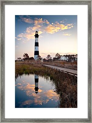 Bodie Island Lighthouse - Cape Hatteras Outer Banks Nc Framed Print by Dave Allen