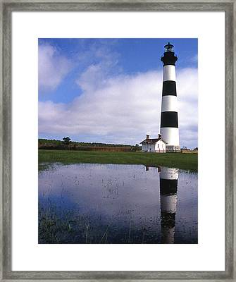 Bodie Island Lighthouse Nc Framed Print by Skip Willits