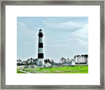 Bodie Island Lighthouse - Outer Banks North Carolina Framed Print by Kim Bemis