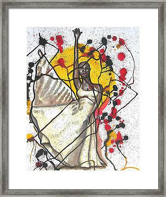Body In Motion Framed Print by Lamario Chez Jackson