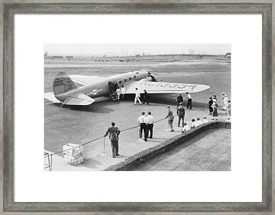 Boeing 247 Airliner, 1930s Framed Print by Science Photo Library