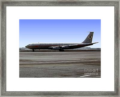 Boeing 707 American Airlines Freight Aal Framed Print by Wernher Krutein