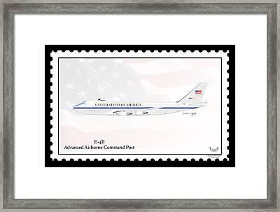 Boeing 747-200 E-4b Framed Print by Arthur Eggers
