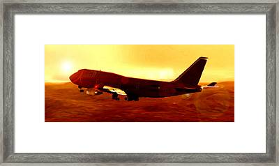 Boeing Beauty Framed Print by Marcello Cicchini