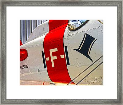 Boeing Fighter 4b-1 -  Close Up Framed Print by Gregory Dyer