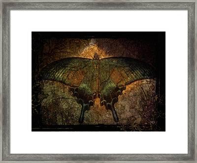 Bohemia Butterfly - Art Nouveau Framed Print by Absinthe Art By Michelle LeAnn Scott