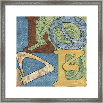 Bohemian Love Framed Print by Debbie DeWitt