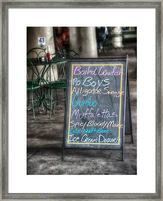 Boiled Crawfish Special Framed Print by Brenda Bryant