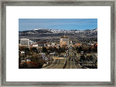 Boise Idaho Framed Print by Robert Bales