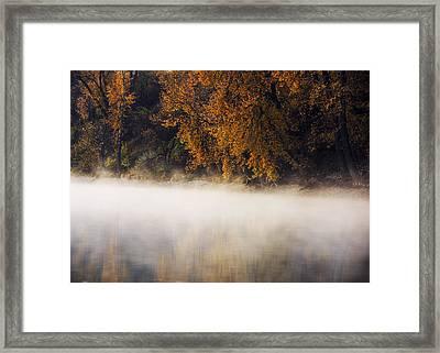 Boise River Autumn Foggy Morning Framed Print by Vishwanath Bhat
