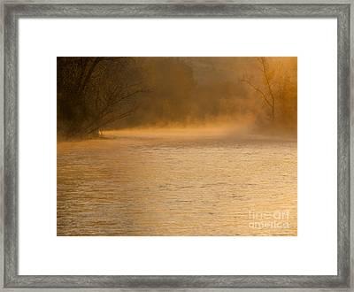 Boise River Sunrise Framed Print by Vishwanath Bhat