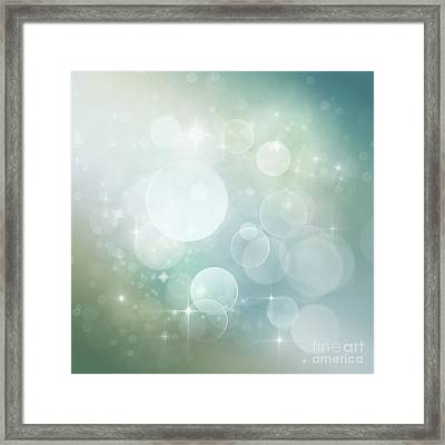 Bokeh Background Framed Print by Mythja  Photography