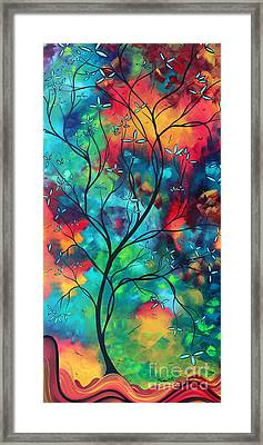 Bold Rich Colorful Landscape Painting Original Art Colored Inspiration By Madart Framed Print by Megan Duncanson