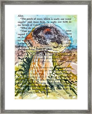 Boletus Edulis Close Up Framed Print by Beverley Harper Tinsley