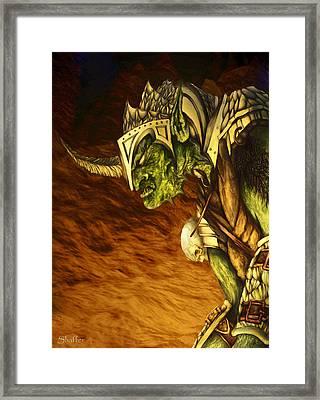 Bolg The Goblin King Framed Print by Curtiss Shaffer