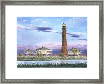 Bolivar Light Framed Print by Carolyn English
