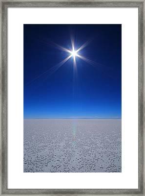Bolivian Salt Framed Print by FireFlux Studios