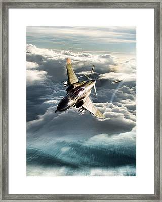 Bolo Leader Robin Olds Framed Print by Peter Chilelli