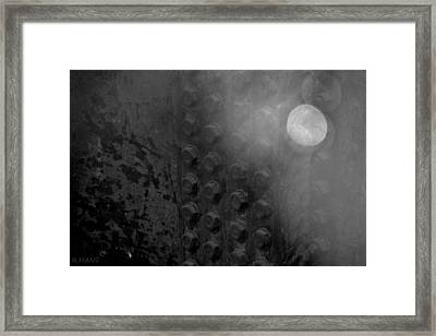 Bolts On The Trident In Black And White Framed Print by Rob Hans