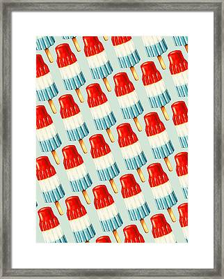 Bomb Pop Pattern Framed Print by Kelly Gilleran
