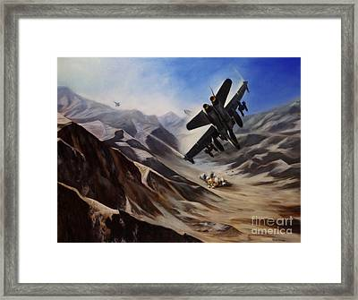 Bomb Run Framed Print by Stephen Roberson