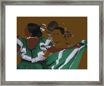Bomba Dancers Framed Print by Aurora Levins Morales