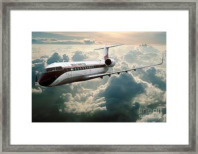 Bombardier-canadair Regional Jet Crj Framed Print by Wernher Krutein