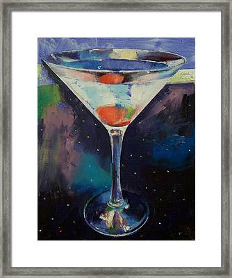 Bombay Sapphire Martini Framed Print by Michael Creese