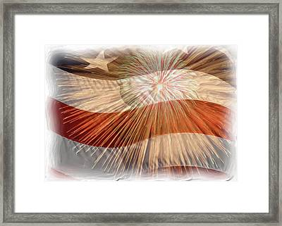 Bombs Bursting In Air Framed Print by Heidi Smith