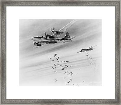 Bombs Over Burma Framed Print by US Army Air Force