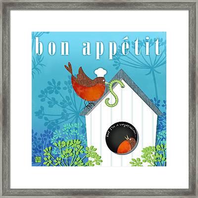 Bon Appetit Framed Print by Valerie Drake Lesiak