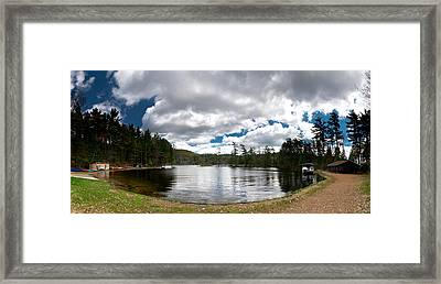 Bon Echo Lagoon Panorama Framed Print by Cale Best