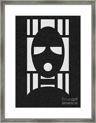Bondage Mask Framed Print by Roseanne Jones