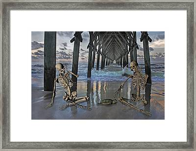 Bonefied Buddies Framed Print by Betsy C Knapp