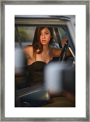Boneyard Girl Framed Print by Christian Heeb