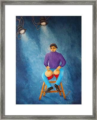 Bongo Man Framed Print by Pamela Allegretto